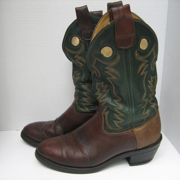 fe3a004d87f DOUBLE H 1584 Buckaroo Work Western Boots,10.5 D